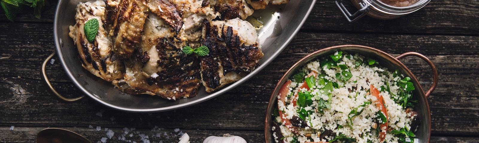 Kylling, Tabbouleh og yoghurt