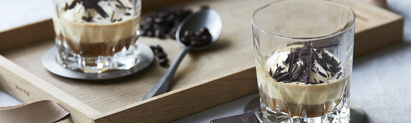 Iskaffe med chokolade