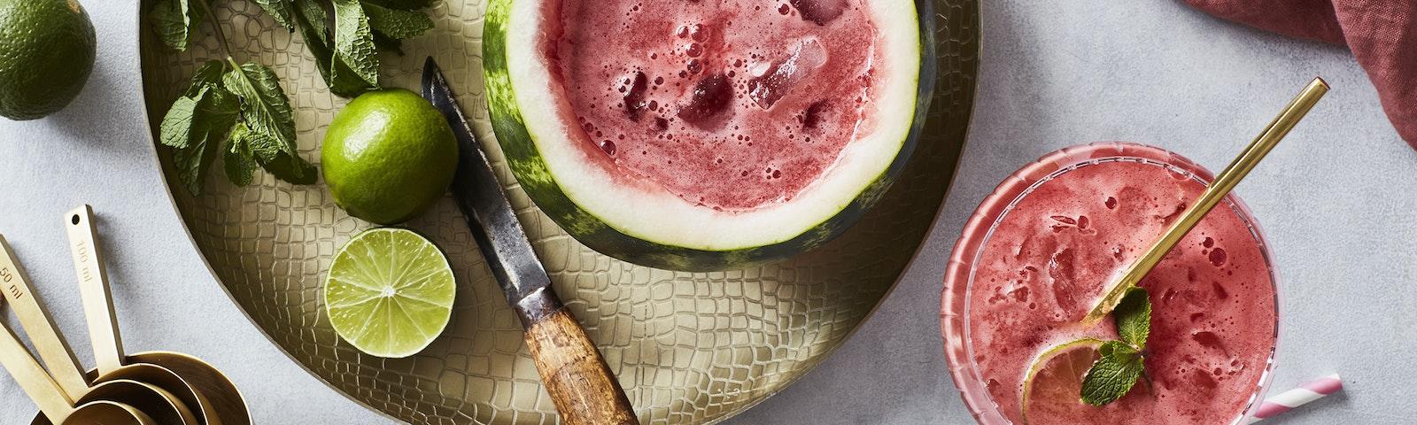 Vandmelon mojito