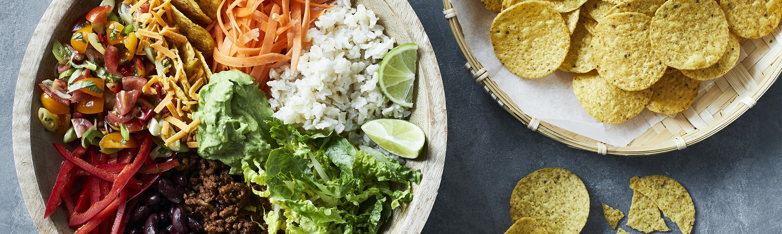 Mexicansk burrito bowl med ris